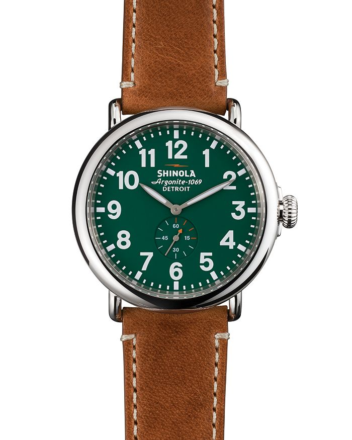 Shinola - The Runwell Brown & Green Dial Watch, 47mm