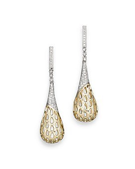 Bloomingdale's - Diamond Pavé Cage Earrings in 14K Yellow and White Gold, 0.50 ct. t.w. - 100% Exclusive