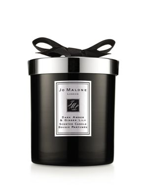 Dark Amber & Ginger Lily Scented Home Candle, 200G in Colorless