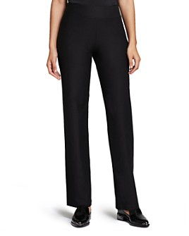 Eileen Fisher Petites - System Stretch Crepe Straight Pants, Regular & Petite