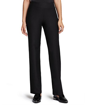 Eileen Fisher - System Stretch Crepe Straight Pants, Regular & Petite