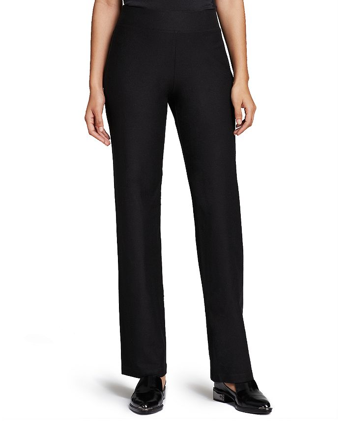 9263204e10542a Eileen Fisher - System Stretch Crepe Straight Pants, Regular & Petite