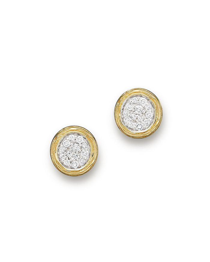 Bloomingdale's - Diamond Cluster Stud Earrings in 14K Yellow Gold, .30 ct. t.w.- 100% Exclusive