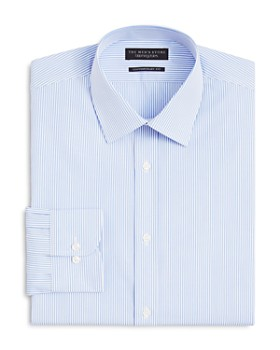 The Men's Store at Bloomingdale's - The Men's Store at Bloomingdale's Striped Dress Shirt - Regular Fit- 100% Exclusive
