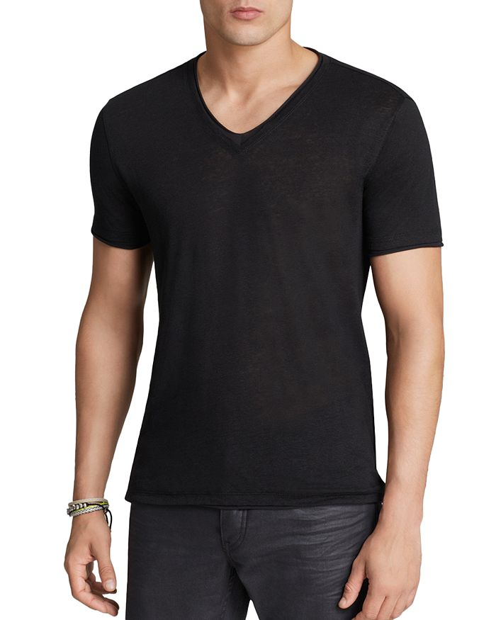 John Varvatos Collection - Double-Layer V-Neck Tee