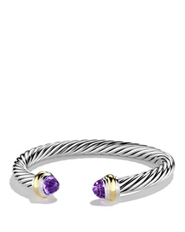 David Yurman - Cable Classics Bracelet with Amethyst and Gold