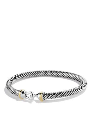 $David Yurman Cable Buckle Bracelet with Gold - Bloomingdale's