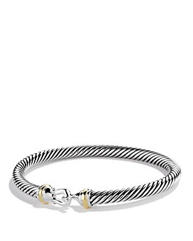 David Yurman - Cable Classic Buckle Bracelet with 18K Gold, 5mm