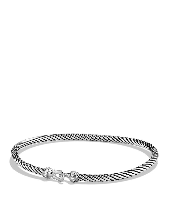 David Yurman - Cable Buckle Bracelet with Diamonds, 3mm