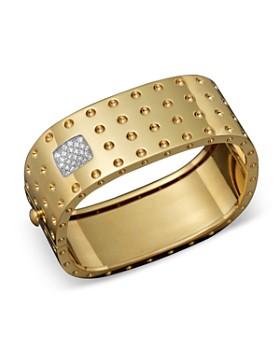Roberto Coin - Roberto Coin 18K Yellow Gold Pois Moi Four Row Diamond Cuff