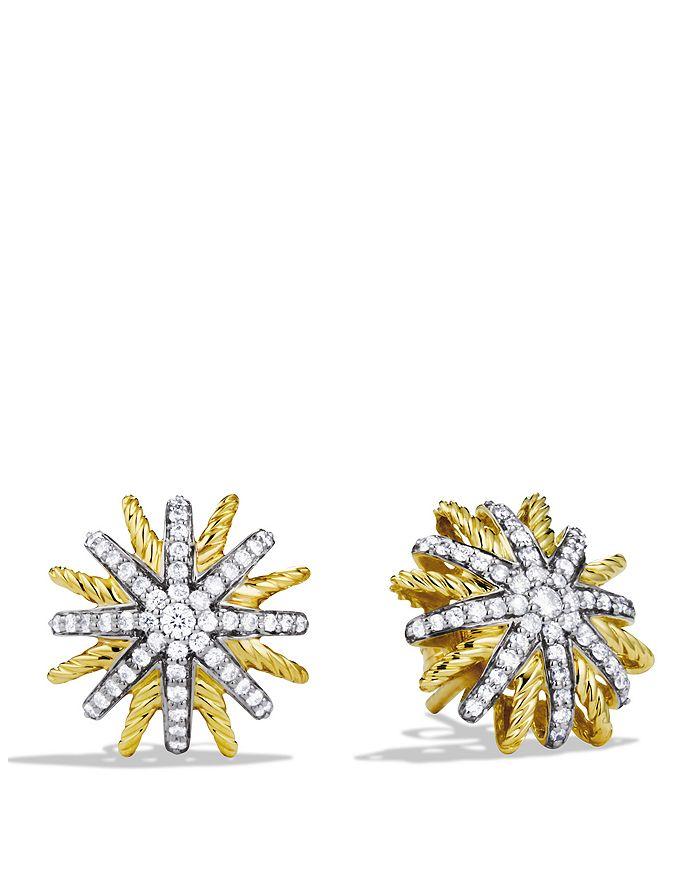David Yurman - Starburst Extra Small Earrings with Diamonds in Gold