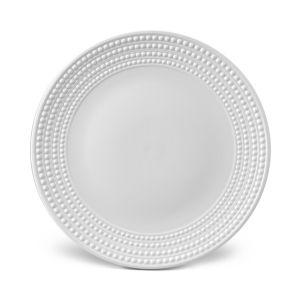 L'Objet Perlee White Round Platter