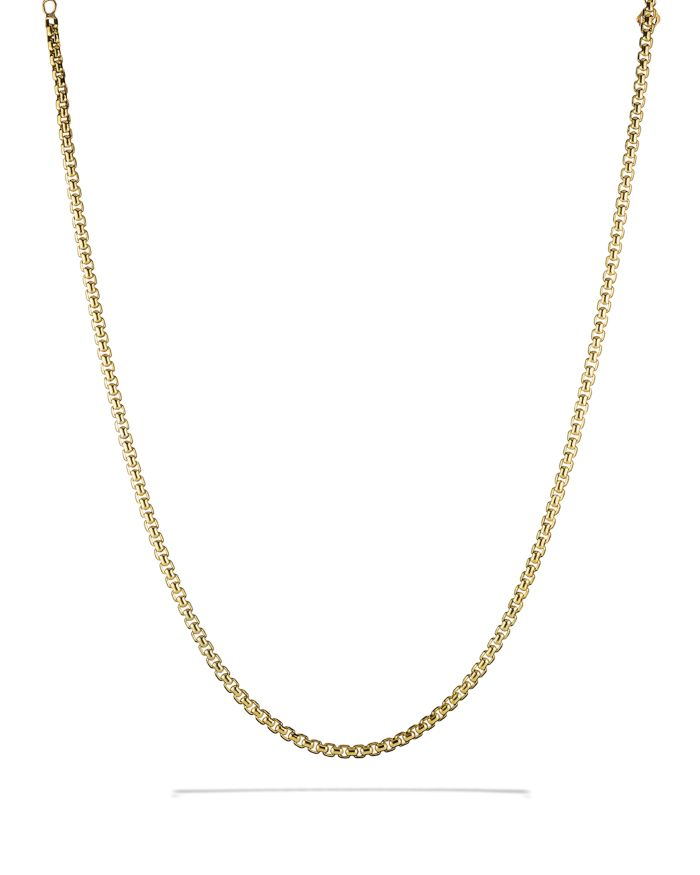 David Yurman Medium Box Chain in Gold    Bloomingdale's
