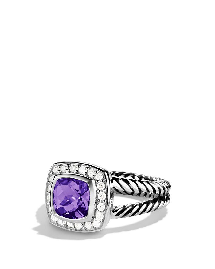 David Yurman - Petite Albion Ring with Amethyst & Diamonds