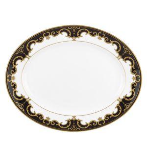 Marchesa by Lenox Baroque Night Oval Platter