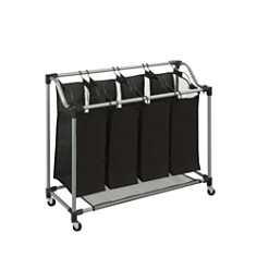 Honey Can Do - Honey Can Do Steel Rolling Elite 4-Section Laundry Sorter