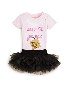 Sara Kety Girls' Bloomie's Shop Till You Nap Bodysuit & Tutu, Baby - 100% Exclusive - Bloomingdale's_0