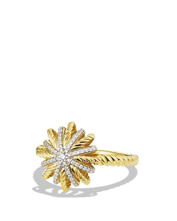 David Yurman - Starburst Ring with Diamonds in Gold