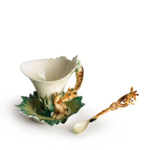 Franz Collection Giraffe Cup & Saucer with Spoon