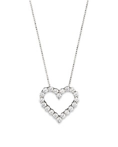 Diamond Heart Pendant Necklace in 14K White Gold, 3.0 ct. t.w. - 100% Exclusive - Bloomingdale's_0