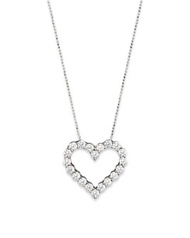 Bloomingdale's - Diamond Heart Pendant Necklace in 14K White Gold, 3.0 ct. t.w. - 100% Exclusive