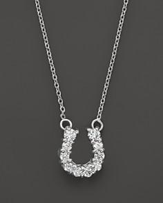 "Roberto Coin 18K White Gold Diamond Baby Horseshoe Pendant Necklace, 16"" - Bloomingdale's_0"