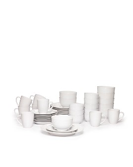 Gourmet Basics by Mikasa - Spiral 40 Piece Dinnerware Set