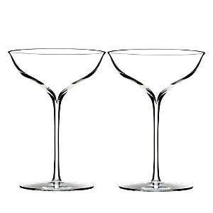 Waterford Elegance Champagne Belle Coupe Glass, Pair