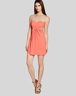 Bcbgmaxazria Petites Dress - Derrika Sleeveless Illusion Sheath