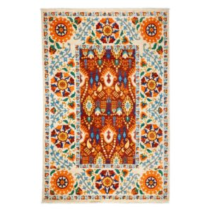 Suzani Collection Oriental Rug, 6'2 x 9'6
