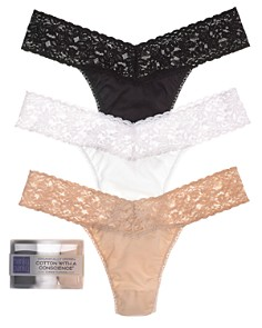 Hanky Panky Cotton with a Conscience® Original-Rise Thongs, Set of 3 - Bloomingdale's_0