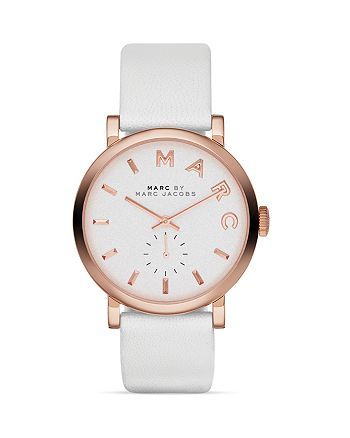 MARC JACOBS - White Baker Watch, 36mm