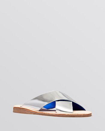 Jeffrey Campbell - Flat Slide Sandals - Caprese