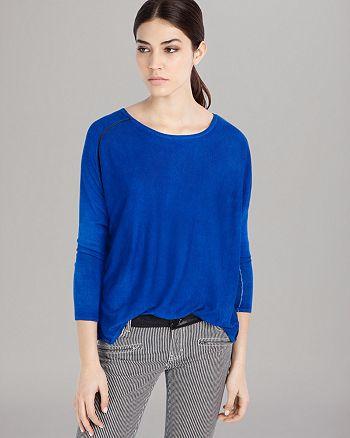 Maje - Sweater - Leather Piping
