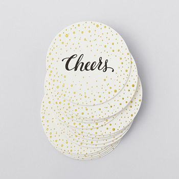 Sugar Paper - Bubbly Cheers Coasters