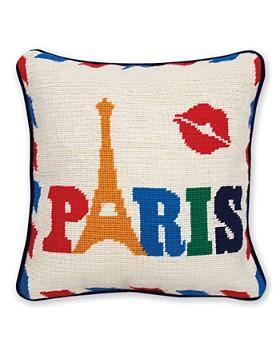 "Jonathan Adler - Jonathan Adler Jet Set Paris Pillow, 12"" x 12"""