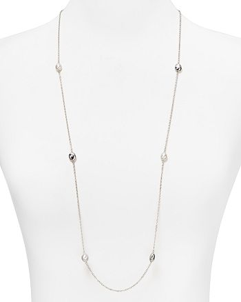 "Bloomingdale's - Sterling Silver & Freshwater Pearl Station Necklace, 36"" - 100% Exclusive"