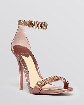 B Brian Atwood - Open Toe Sandals - Ciara Beaded High-Heel