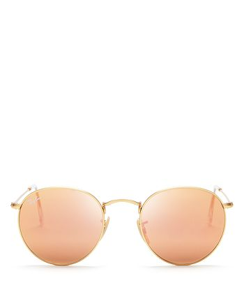 Ray-Ban - Unisex Icons Mirrored Round Sunglasses, 50mm