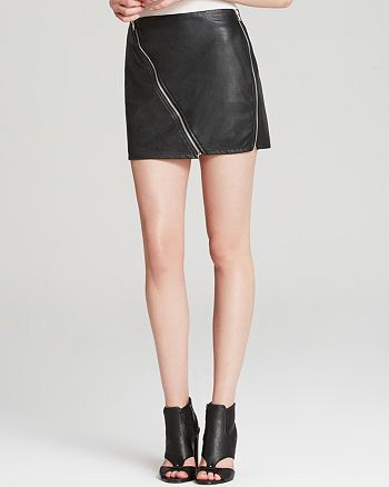 Sanctuary - Perforated Faux Leather Mini Skirt