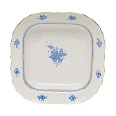 Herend - Chinese Bouquet Blue Square Fruit Dish