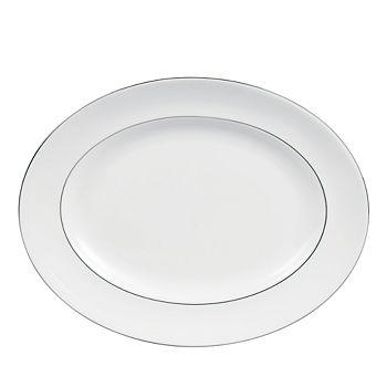 "Vera Wang - for Wedgwood ""Blanc Sur Blanc"" Oval Platter, 15"""