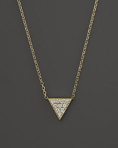 """KC Designs Diamond Triangle Pendant Necklace in 14K Yellow Gold, 16"""" - Bloomingdale's_0"""