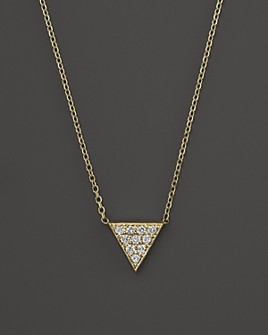 Kc Designs Diamond Triangle Pendant Necklace in 14K Yellow Gold, 16