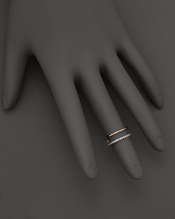 KC Designs - Double Row Midi Ring in 14K Rose Gold, .15 ct. t.w.
