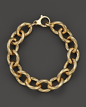Roberto Coin 18K Yellow Gold Textured Oval Link Bracelet - 100% Exclusive