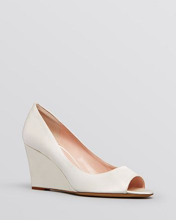 53dce6e88385 kate spade new york Peep Toe Wedge Evening Pumps - Radiant Ivory ...