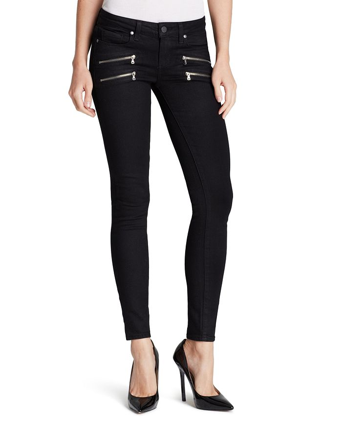 PAIGE - Edgemont Ultra Skinny Jeans in Black Shadow