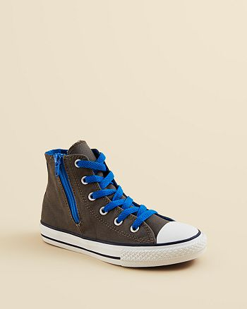 60b8171f7af8 Converse Boys  Chuck Taylor All Star High Top Side Zip Sneakers ...