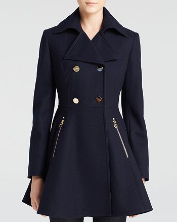 Laundry by Shelli Segal - Skirted Wool Coat
